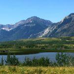 Maskinonge Lake, with Sofa Mountain in the background, Alberta
